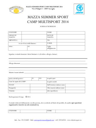 CUS CAMP 2005 - Comune di Treviglio