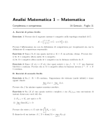 Foglio 11 - Dipartimento di Matematica