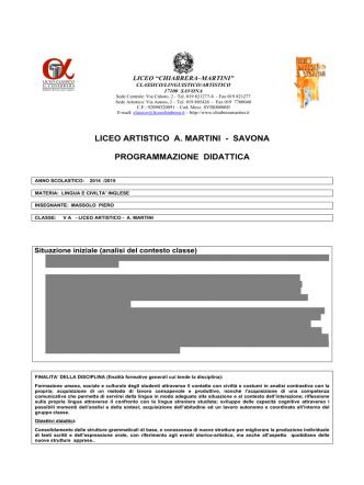 5A - Liceo Chiabrera Martini Savona