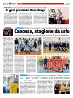 Basket Canossa, stagione da urlo