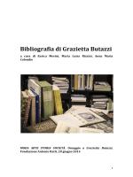 Bibliografia di Grazietta Butazzi