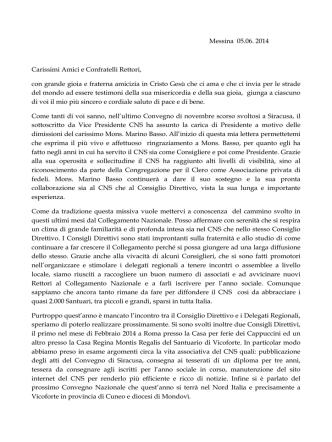 49 saluto presidente2014 - Documenti del 47° Convegno Nazionale
