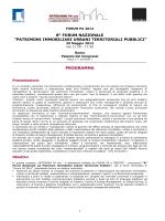 Programma Forum - CNS Consorzio Nazionale Servizi
