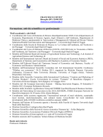 Curriculum vitae - Università degli Studi di Foggia