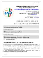 2015 Comunicato Ufficiale N. 8 del 10/09 - Figc