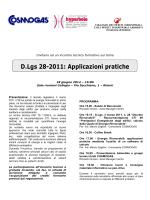 D.Lgs 28-2011: Applicazioni pratiche