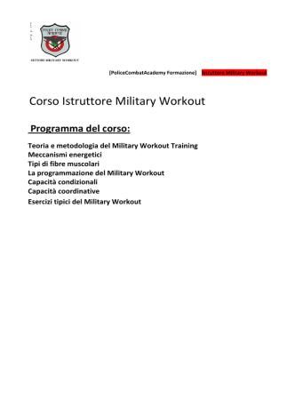 Corso Istruttori - survival division