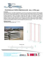PANNELLO TIPO PREDALLES Art.: CPK 350