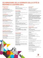 celebrazione della giornata della città di rovigno e s.eufemia 2014