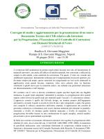 presentazione del documento tecnico del cnr relativo alle istruzioni
