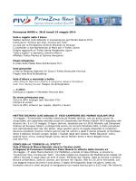 Primazona NEWS n. 38 di lunedì 19 maggio 2014 Vela e regate