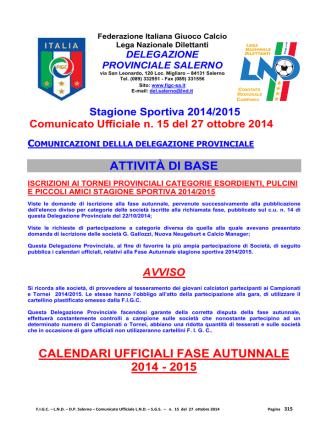 c.u. 15 - FIGC