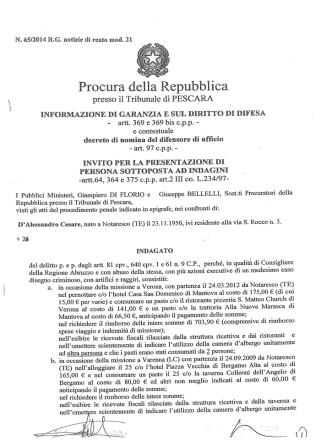 - artt. 369 e 369 bis c.p.p.