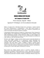27 giugno 2014, Comunicato Stampa lancio Brasil World Cup Village