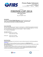 FIRENZE CUP 2014 - FIRS - Firenze Rugby Subacqueo