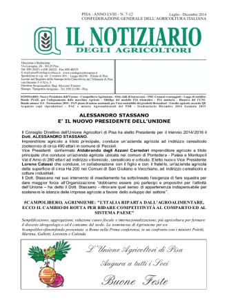 Anno 2014 N° 7-12 - Confagricoltura Pisa