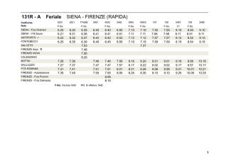 131R - A Feriale SIENA - FIRENZE (RAPIDA)
