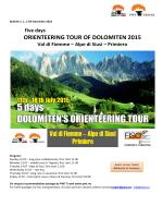 ORIENTEERING TOUR OF DOLOMITEN 2015