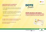 DOTE SCUOLA 2013/2014