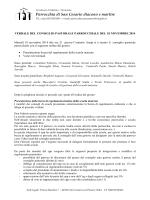 verbale 18 novembre 2014 - Parrocchia di San Cesario DM