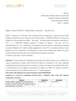 Relazione parametri qualità servizi telefonici di