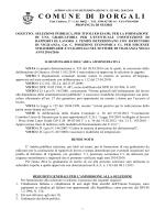 CONCORSO PUBBLICO - Comune di Dorgali