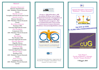 brochure - Azienda Ospedaliero - Universitaria
