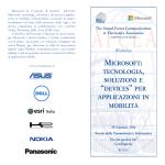 """microsoft: tecnologia, soluzioni e """"devices"""" per applicazioni"""