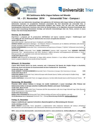 21. November 2014 Universität Trier - Campus