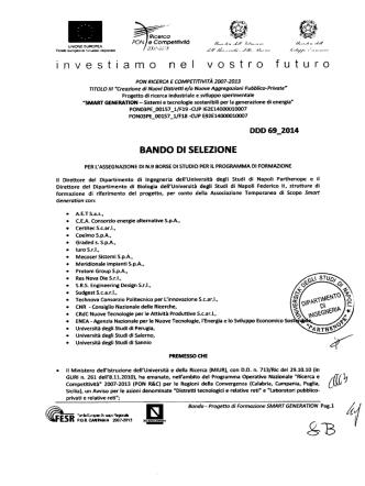 bando PON PROGETTO FORMAZIONE - Università degli Studi di