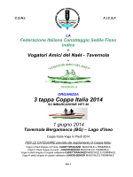 Tavernola - 1 giugno - Federazione Italiana Canottaggio Sedile Fisso