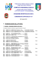 graduatorie ripescaggi - ASD Torregrotta Calcio