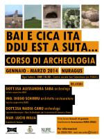 CORSO DI ARCHEOLOGIA