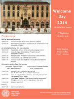 Welcome Day 2014 for International Students-1