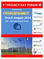 Programma privacy day forum 2014 - Area della Ricerca Cnr di Pisa
