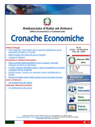 Cronache Economiche N. 15 (17 Giugno