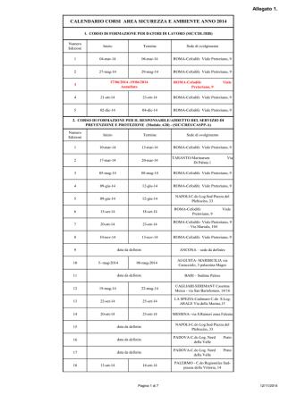 Allegato 1 calendario corsi sicurezza 2014