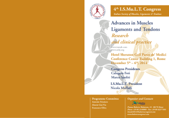 Advances in Muscles Ligaments and Tendons Research and clinical