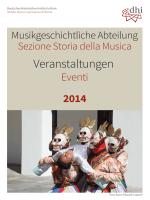 2014 - DHI Rom: Musikgeschichtliche Abteilung
