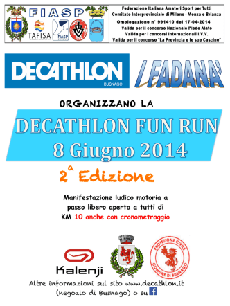 Decathlon Fun Run - benvenuti sul sito del gm avis milano