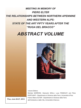 abstract volume - Department of Earth Sciences