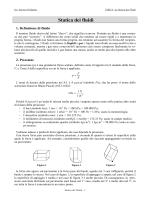 Statica dei fluidi - Liceo Statale Aprosio