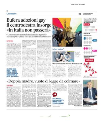 Bufera adozioni gay il centrodestra insorge «In Italia non passerà»