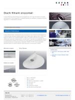 Tessuti per filtri a disco orizzontaliDischi filtranti orizzontali