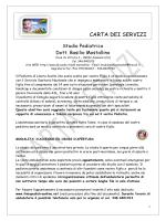 CARTA DEI SERVIZI - Ambulatorio Dott.Basilio Mostallino