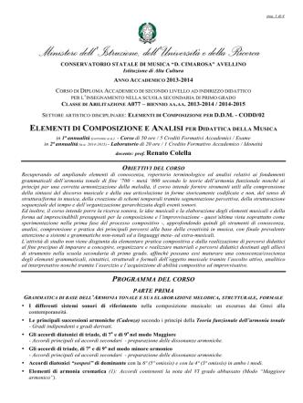 CODD2 - A077 - Programma biennio aa.aa. 2013_2014