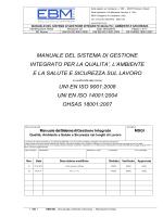 manuale del sistema di gestione integrato per la