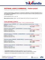 VIETNAM, LAOS E CAMBOGIA - listino prezzi