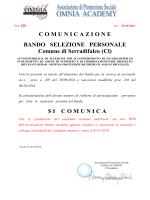 Spostamento data pubblicazione bando Comune di Serradifalco