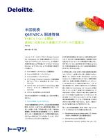米国税務 QI/FATCA 関連情報